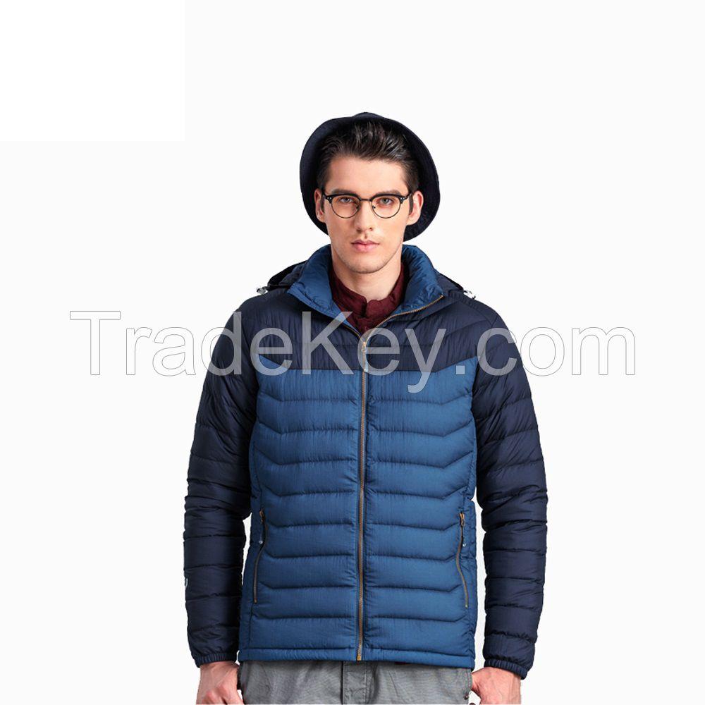 Men Winter Coat Down Padded Keep Warm Breathable Jacket