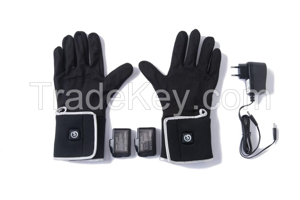 Wholesale Waterproof Rechargeable Battery Ski Heated Gloves for Winter