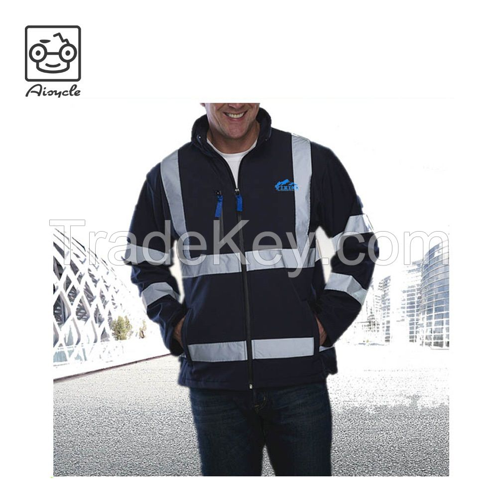 EN20471 High Quality Reflective Men's ANSI Class 3 Waterproof Parka Jacket For Work