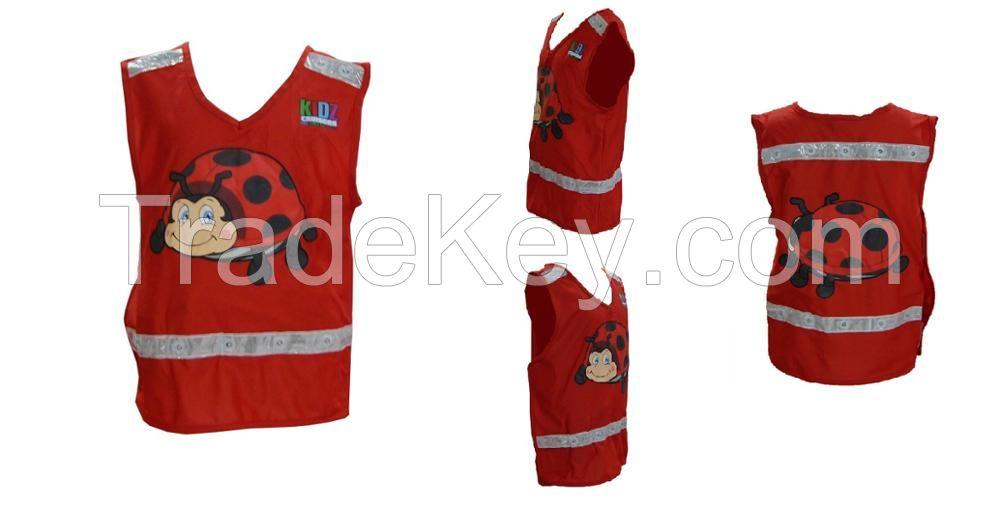 Children LED Light Up Reflective Safety Clothing Kids Carton Vest