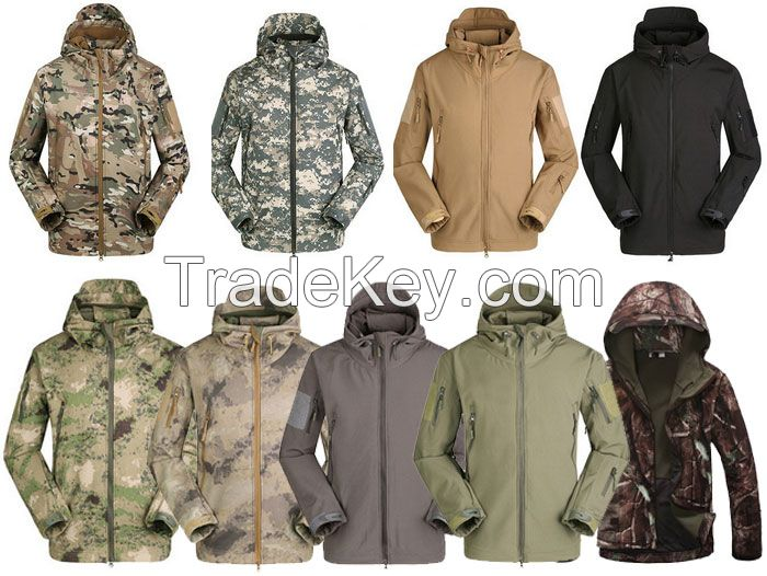 Brand Outdoor Tactical Military Jackets Waterproof Men Soft Shell Army Jacket