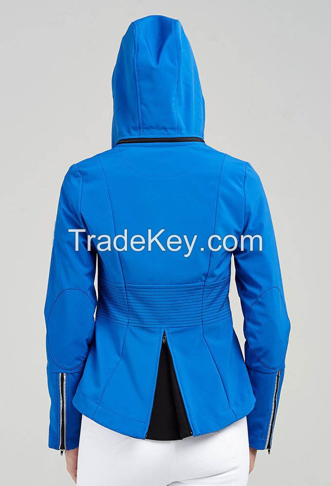 Custom Logo Winter Waterproof Warm Coat Ladies 2018 Horse Racing Jacket Assassin