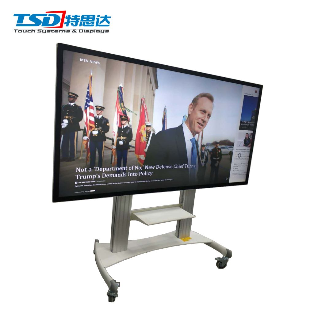 BOSSHUB 86 inch Interactive mobile whiteboard touch screen smart whiteboard for e-learning