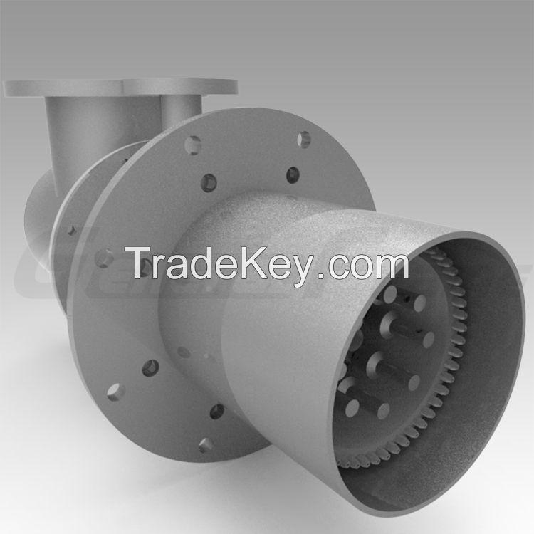 Low NOx industrial burner for heating device