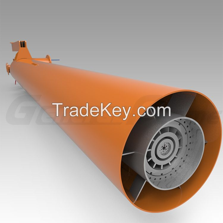 Fuel gas burner for industrial heating device