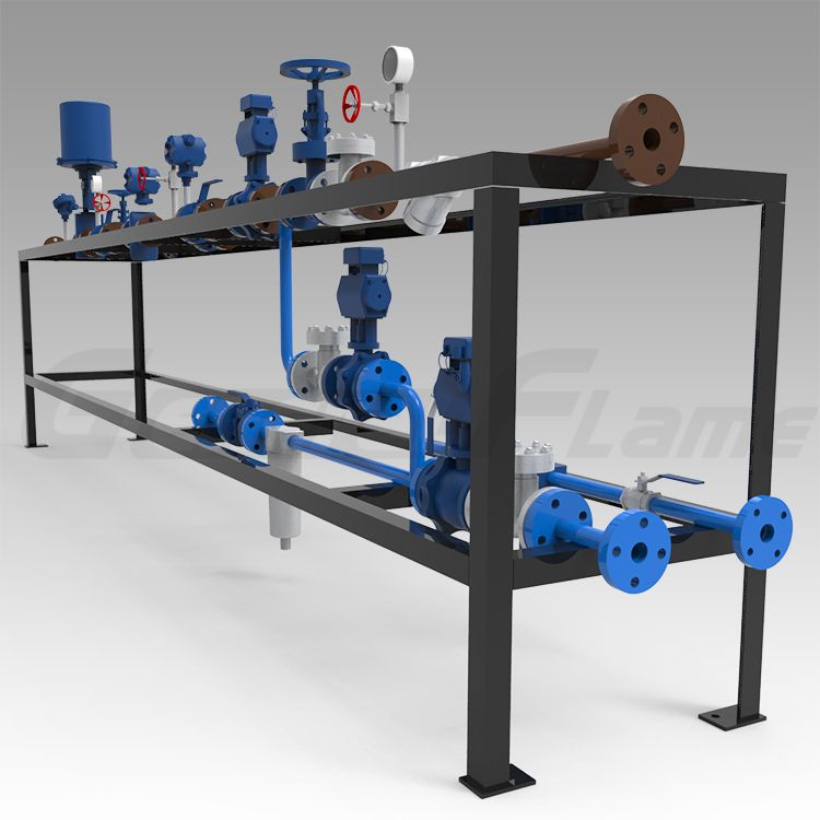 fuel oil and gas delivery system for industrial burner