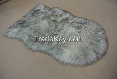 Two tone faux fur rug throw