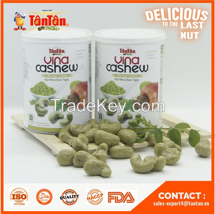 CASHEW NUT with MORINGA Coated - Healthy Products Vietnam Origin