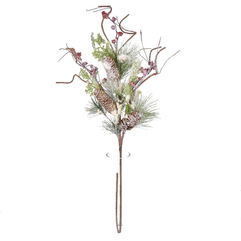 Artificial Flower Pine Boughs Red Berries Pine Needle Customer Made Accepted