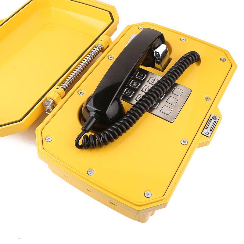 Waterproof track side telephone VOIP corded telephones public telephone