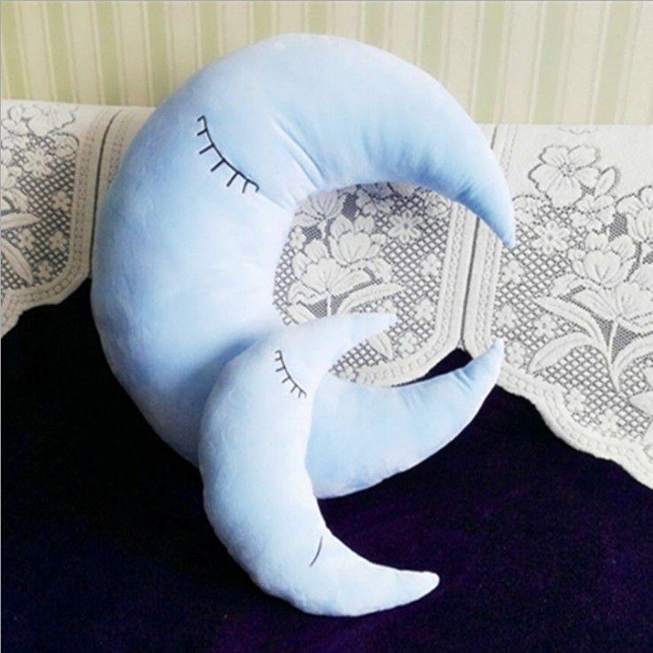 plush moon toys stuffed children pillow