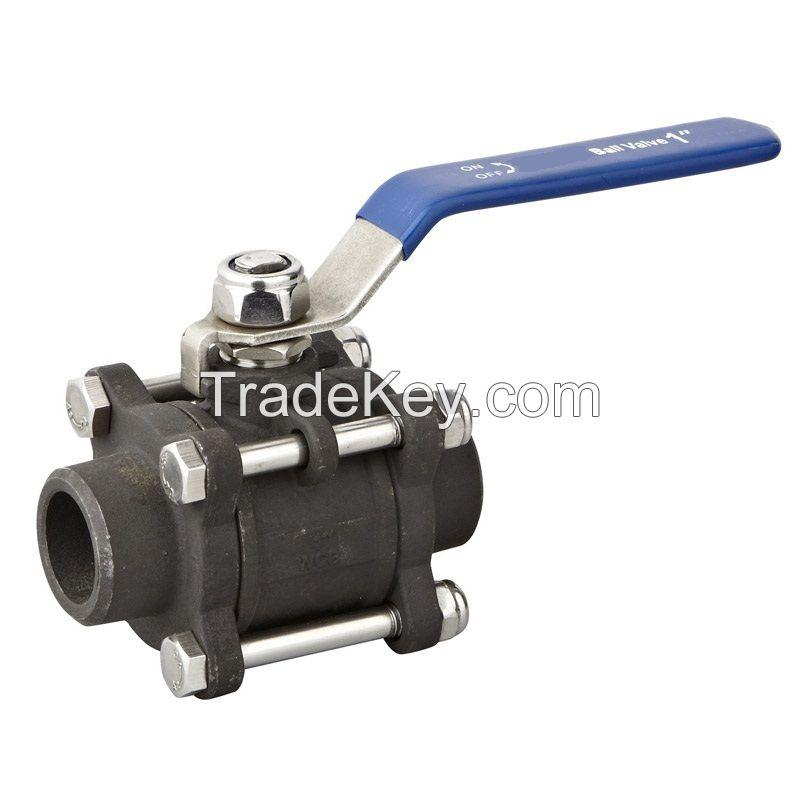 3pcs carbon steel butt weld ball valve