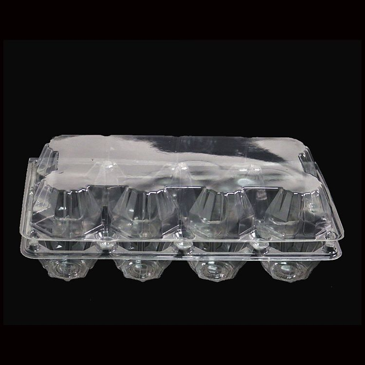 Factory Sale Disposable Plastic Egg Tray Blister Clear Egg Packing Box