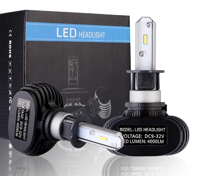 2 Pcs Car LED Headlight S1 Conversion Kit 36W Supper Bright 8000LM 6000K Cool White Led Lamps