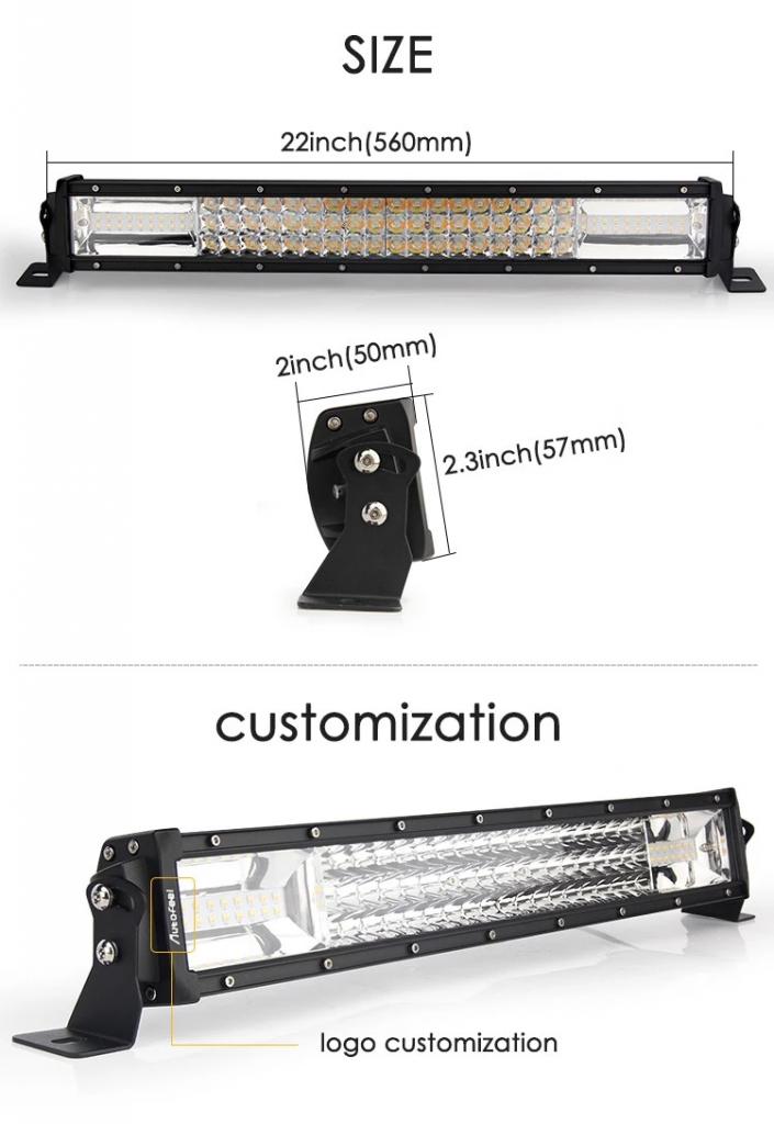 Best seller Strobe led light 24v 3 Rows 22inch Led Work Light 270w Strobe Led Light Bar for 4X4 Offroad lights Jeep Truck