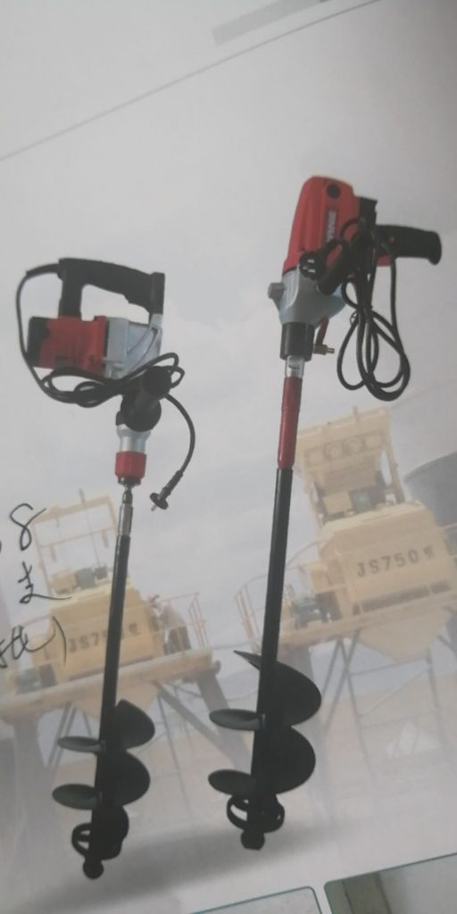 Electric hammer drill material mixing drill