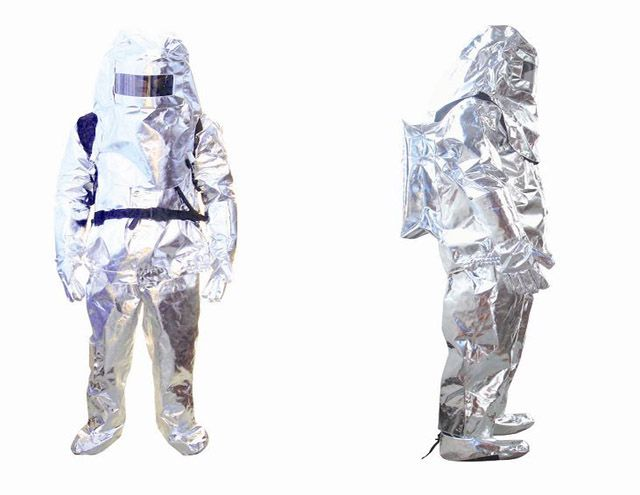 Heat-insulating clothing fire-resistance clothing aluminum foils protective suit