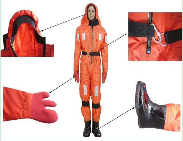 Solas lifesaving fire fighting suit marine immersion suit