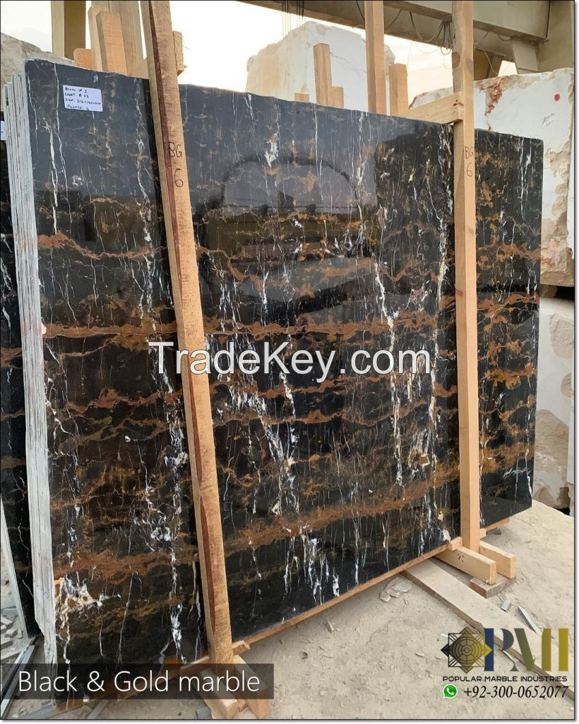 Black and gold marble pakistani marble natural marble portoro