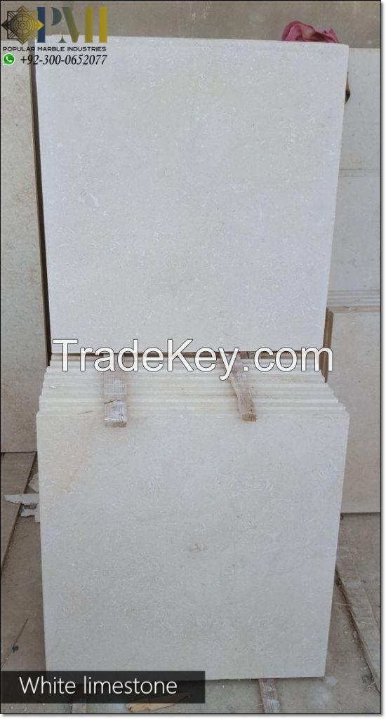 Pakistani white limestone for wall cladding