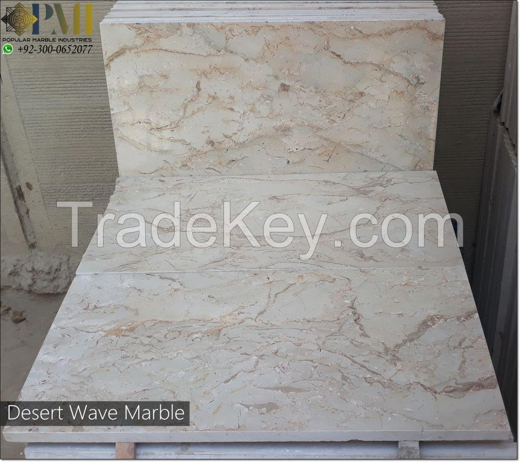 Pakistani marble Desert Wave tiles natural marble