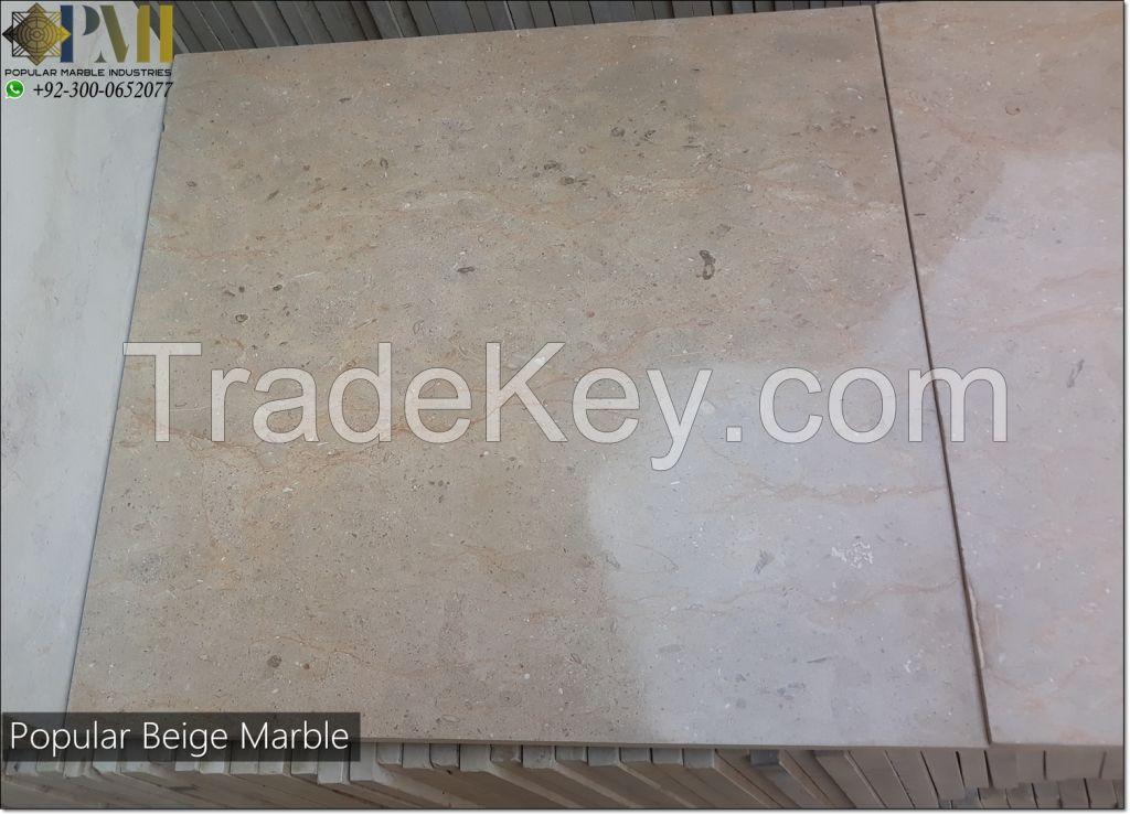 Popular Beige marble pakistani natural marble tiles