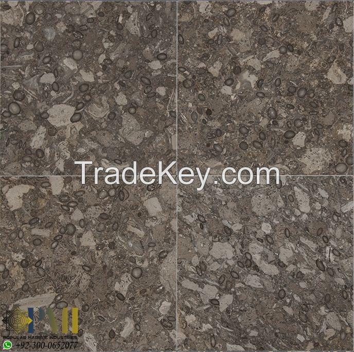 Fossil Gray marble for flooring tiles Oceanic gray tiles