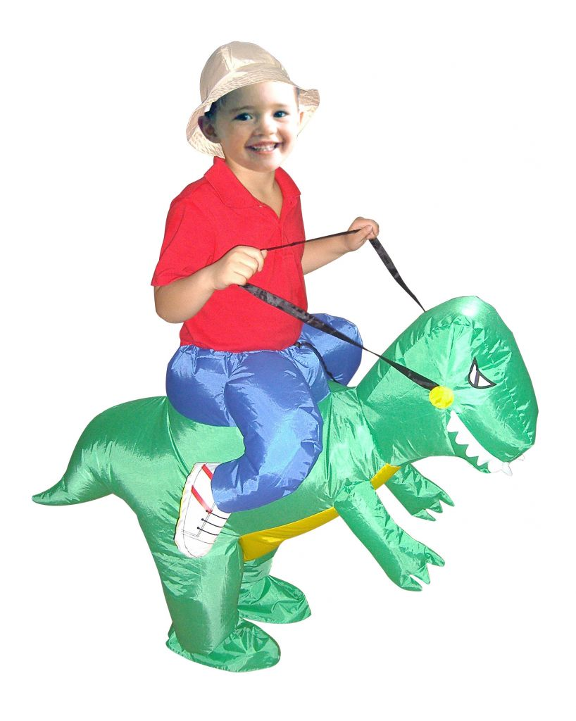 Water Proof Polyester Inflatable Funny Dinosour Costume for Kids