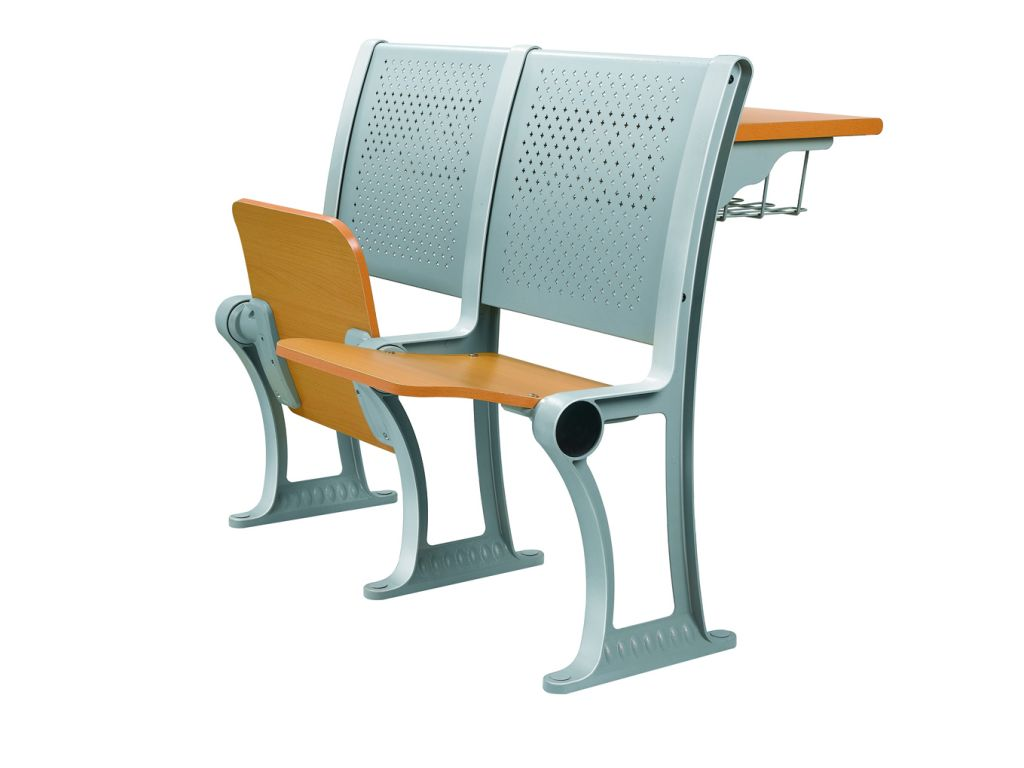 Fixed desks and chairs