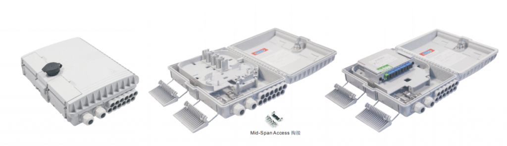 12 Cores Fiber Optical Distribution Box