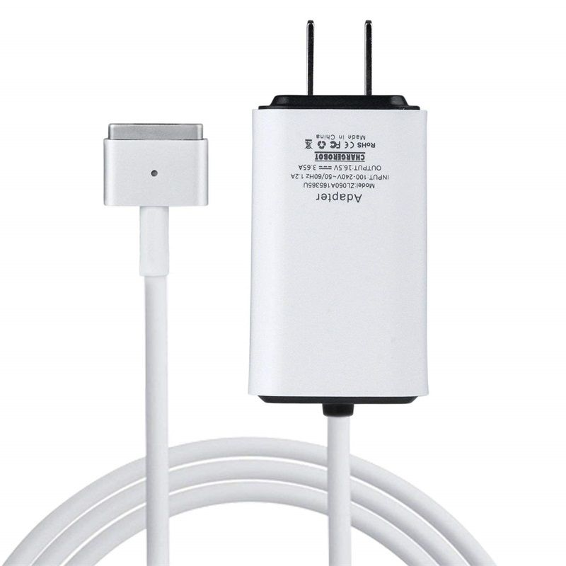 Mini Charger for MacBook Pro 13 inch Retina 60W Magnetic 2 T-Tip Wall Charger (Made After Late 2012) mbp A1425 A1435 A1465 A1502