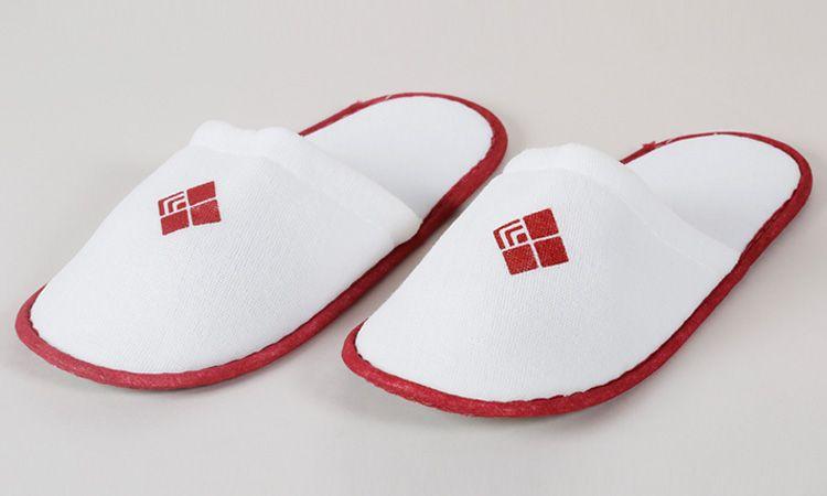 Eliya 5 Star White Hotel Slippers/Cotton Slipper with EVA/ Anti-Slip Dots Sole
