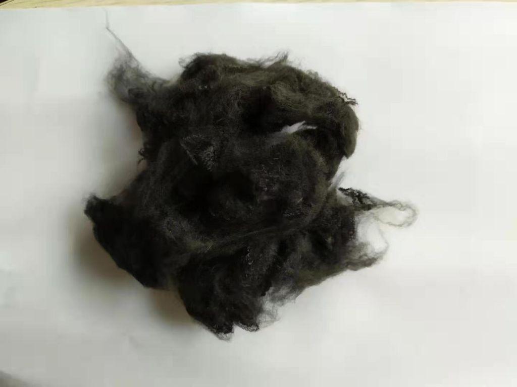 virgin dope dyed optical black polyester staple fiber