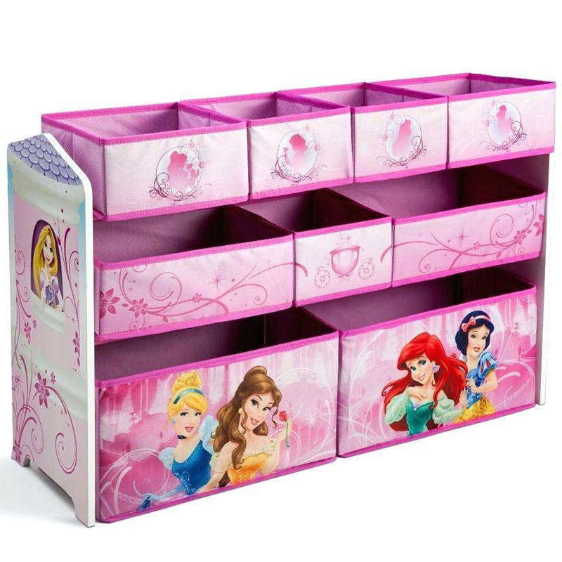 Children Disney princess Deluxe Multi-Bin Toy Organizer
