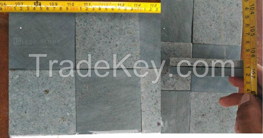 Premium Green Sukabumi Stone Tiles Honed/Rough Face (Bali Stone Tiles)