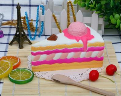 Cake Slice Squishy Toy