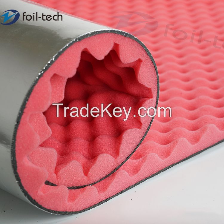 Acoustic pipe insulation mass loaded vinyl