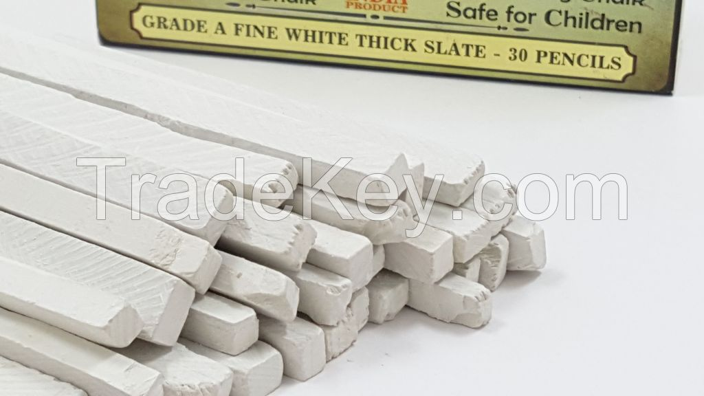 Rawsimple Grade A Fine White Thick Slate 30 Pencils