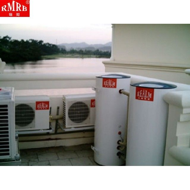 heat pump type air conditioner air to water heater