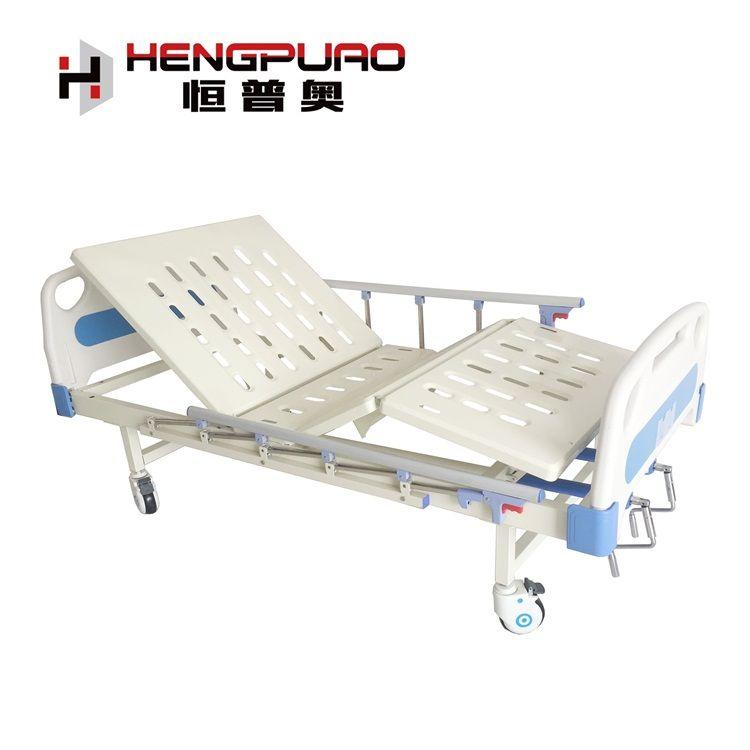 manual two cranks modern hospital bed for elderly man