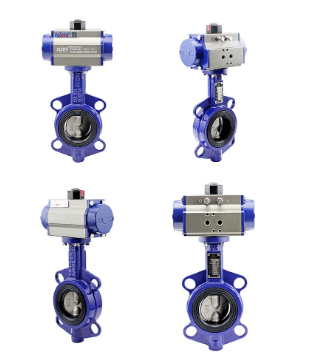 DI CI SS Rubber Seal Pneumatic Actuator Electric Manual wafer butterfly valve with best price