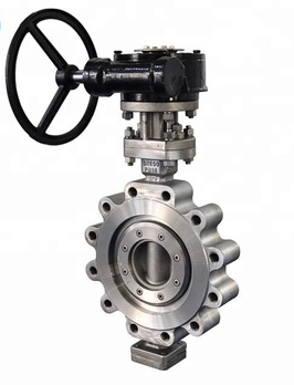 High performance metal seat  pneumatic electric actuated lug butterfly valve