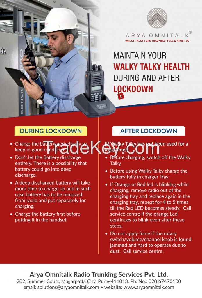 Maintain Your Walky Talky Health During and After Lockdown.