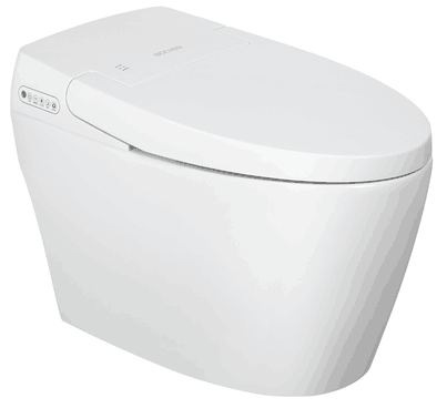 Moden style Automatic Toilet With Bidet Faucet And Soft Closing White Intelligent Toilet Bowl