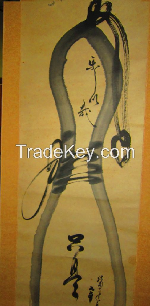 Japanese vintage art painting and dolls