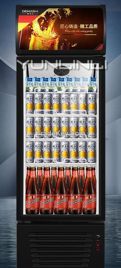 Commercial Freezer Single-door Beverage Refrigeration Showcase Vertical Type Refrigrating Cabinet LG-290