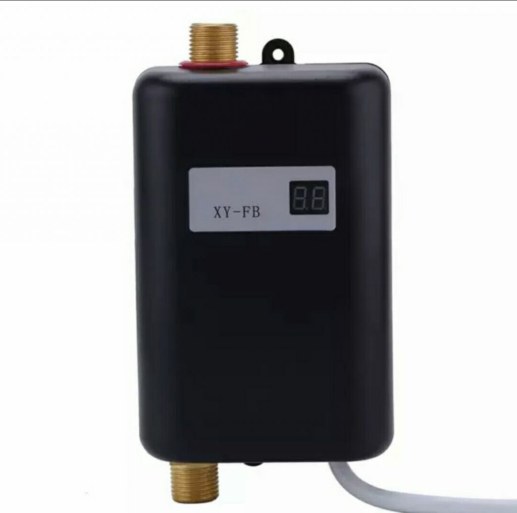3400W Electric Water Heater Instant Tankless Water Heater 110V/220V 3.8KW Temperature display Heating Shower Universal