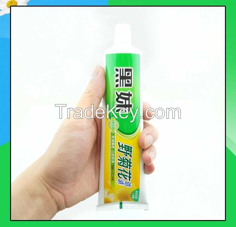 Black sister natural wild chrysanthemum toothpaste 200g heat remove fire to breath stains fresh breath bright