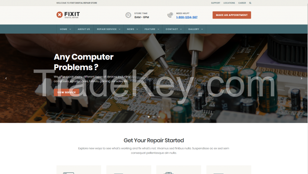 website technology companies, cctv, telephone, computer