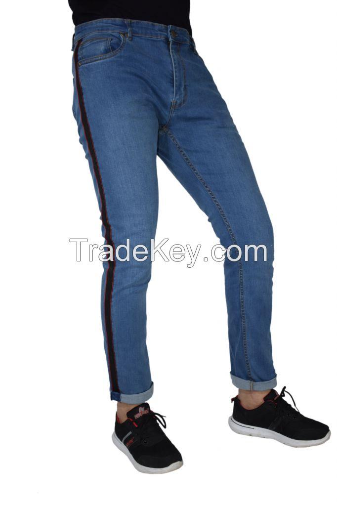 Black Side Stripe Jeans